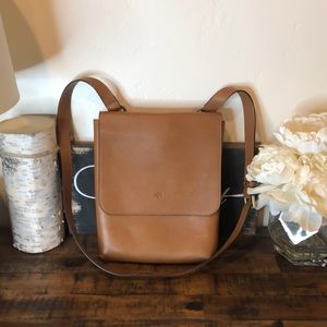 Mulberry Leather Oak Crossbody Messenger Bag